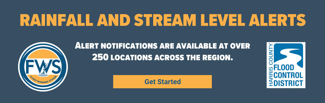 Rainfall and stream level alerts